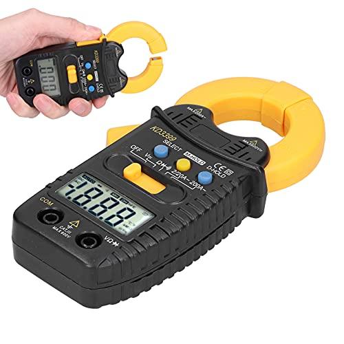 logozoee Probador de Resistencia, Pinza de 3/2 dígitos, Pinza amperimétrica con Pantalla Digital LCD de Alta precisión y múltiples contenidos de medición para Corriente CA(KD3399)