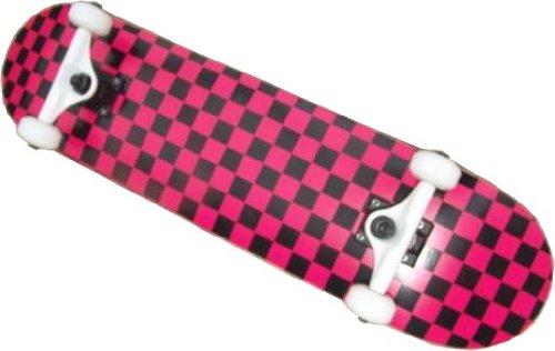 Checkered Skateboard Komplettboard Checkered Pink/Black 7.5 - Complete Skateboard Board Deck Decks