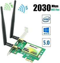 Ziyituod Gigabit WiFi Card, AC 2030Mbps PCIe Wireless WiFi Network Card with Bluetooth 5.0, Dual Band(5GHz 1730Mbps / 2.4GHz 300Mbps) PCI Express Wireless Card for Desktop PC, Supports Win 10