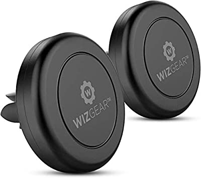 Magnetic Phone Car Mount, WizGear [2 PACK] Universal Air Vent Magnetic Phone Car Mount Phone Holder, for Cell Phones and Mini Tablets with Fast Swift-Snap Technology, With 4 Metal Plates from WizGear