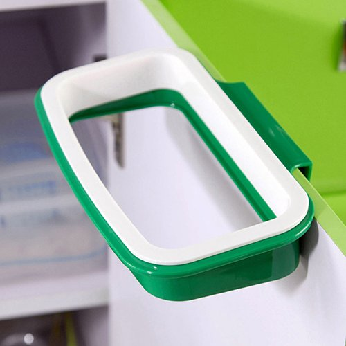 SoundsBeauty Portable Kitchen Door Back Hanging Style Cabinet Stand Trash Garbage Bags Support Holder