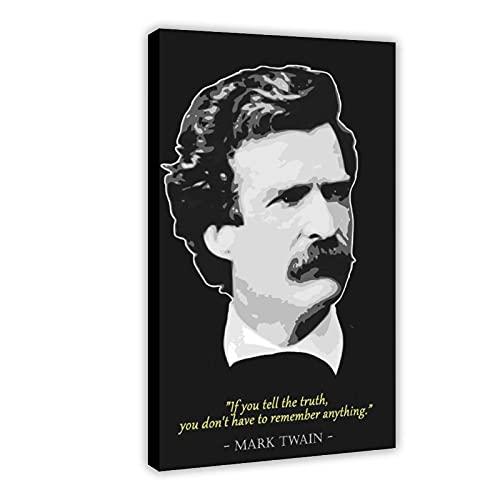 Mark Twain Classic - Póster de lienzo con citas de celebridades (50 x 75 cm)