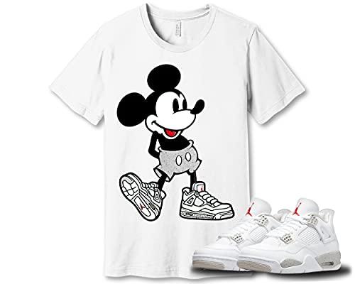 Mickey# Mouse Shirt to Match Jordan 4 Tech White Oreo Sneaker Snkrs Sneakerhead Got Em D090709