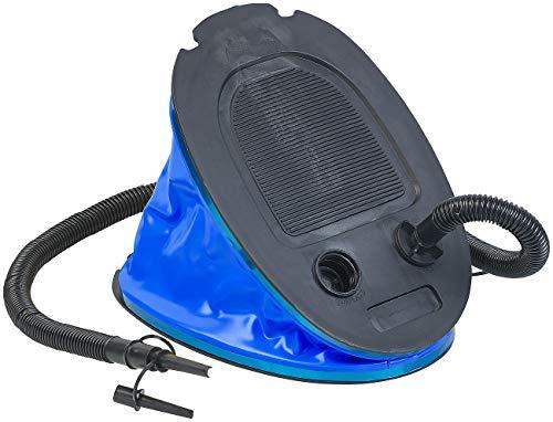 AGT Blasebalg Luftmatratze: XL-Fußluftpumpe mit Blasebalg, 5 l Kapazität, 2 Ventil-Aufsätze (Fusspumpe)