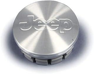 JTAccord Car Wheel Center Hub Caps Emblem Badge Sticker For Jeep Wrangler Patriot Grand Cherokee Compass Liberty Styling,Silver,56mm,4pcs//Set