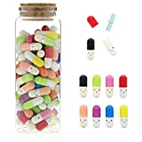 Message in a Bottle Capsule Letter with Jar (0.3 x 0.9 In, 8 Colors, 100-Pack)