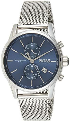 Hugo Boss Herren Chronograph Quarz Uhr mit Edelstahl Armband 1513441
