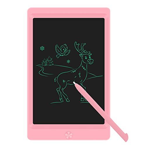 Sunany Tableta de Escritura LCD 8,5 Pulgadas, Tableta de Dibujo LCD, Writing Tablet con Teclas Borrables,Regalos para Niños, Juguete Educativo(Rosa)