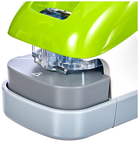 PLUS Japan, Klammerloser Hefter Schreibtischmodell in Grün, Heftleistung 10 Blatt, 1er Pack (1 x 1 Hefter) - 2