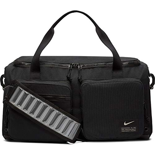 Nike Unisex's Utility S Power Duff sports bag, Black/Black/Enigma Stone, One size