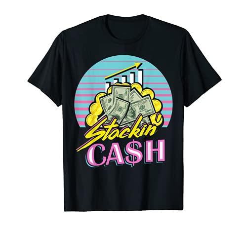 Emprendedor Regalo Inversin Stock Trading Tema de los 90 Camiseta