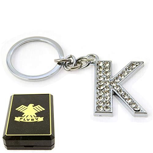 FLYBY Key Ring Letter K Elegant Box Attention Birthday Valentine's Day