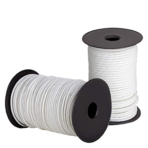 Ravenox Solid Braid Nylon Rope | Made in the USA | (White)(5/16 in x 100 ft) | Industrial Strength Cord For Lifting, Pulling, Towing, Securing, Mooring, Anchor Line & Tie-Down | By the Foot & Diameter