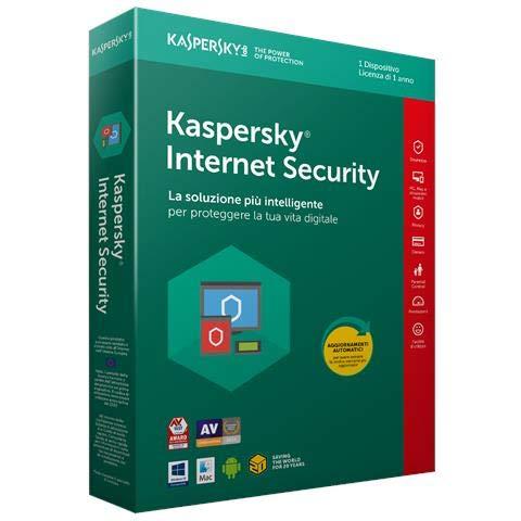 Kaspersky Internet Security 2018 1 Utente | 1 Anno