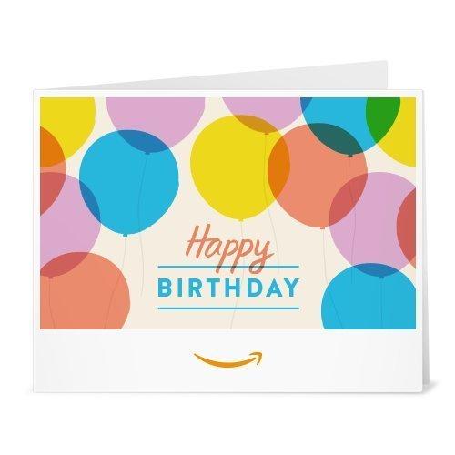 Amazon.de Gutschein zum Drucken (Happy Birthday Luftballons)