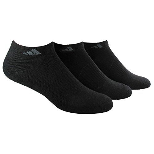 adidas Women's Cushioned Low Cut Socks (3-Pack), Black, One Size