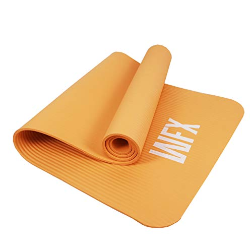 #DoYourFitness x World Fitness - Fitnessmatte Yogamatte »Amisha« - 183 x 61 x 1,2 cm - rutschfest & robust - Gymnastikmatte ideal für Yoga, Pilates, Workout, Outdoor, Gym & Home - Orange-Gelb