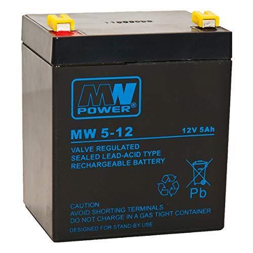 MWPOWER MW 5-12 Blei-Gel Akku für Kehrmaschine Westfalia Güde Haaga Zyklenfest