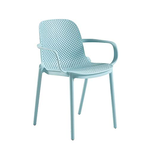 Haus Dekoration 4 stücke Stühle Set Moderne minimalistische Farben Hohl Kunststoffstuhl (Color : Red Wine)