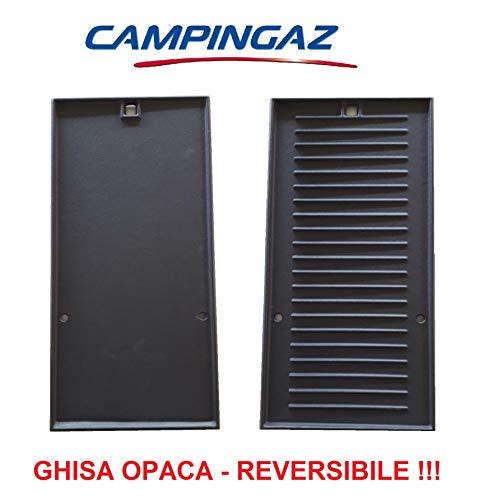 Campingaz Wendeplatte aus Gusseisen (Liscia/Rigat) für Grill 3 Series LS Ersatzteil – Größe 22,5 x 45