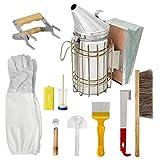 FeelMeet Herramientas de la Apicultura Kit de Accesorios Set Starter Kit Apicultor Suministros de la Colmena de la Colmena Fumador 10PCS