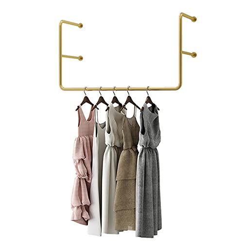 Riel para ropa colgante, tendedero de metal para tuberías industriales, estante de exhibición de ropa, desmontable/que ahorra espacio/de moda todo fósforo/A / 80cm