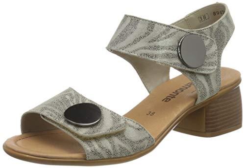 Remonte Damskie sandały R8760 Slingback, szary Cenere 42, 42 EU