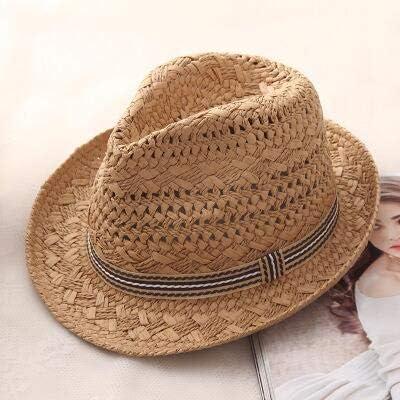 CHIC&TNK Fashion Handwork Women Summer Raffia Straw Sun Hat Boho Beach Fedora Sunhat Men Panama Gangster Cap