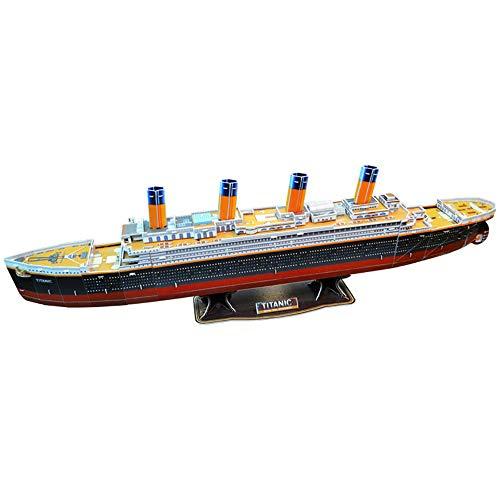 LIMEIE Rompecabezas 3D, Titanic, Kit De Rompecabezas De Modelo De Barco Famoso De Bricolaje, Explora El Mundo En 3D, CREA Diversión para Jóvenes Y Ancianos, Juguetes Educativos para Niños