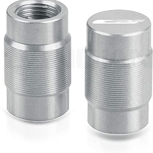 2 Piezas Tapas para VáLvulas de AleacióN Aluminio de Moto compatible con CBF 125 150 190 x R 500 600 1000 SA 2006-2020, Anti CorrosióN Cubierta de La VáLvula NeumáTico para Evitar Fugas de Aire