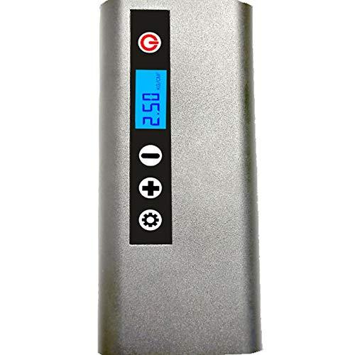 WZM Bomba de Aire Portátil Compresor de Aire Mini Bomba Elegante del Poder Móvil de la Batería de Litio 4000mAh Inflador de Neumáticos Portátil Inalámbrico 14,2 * 5,8 * 4,2 CM (Color : Silver)