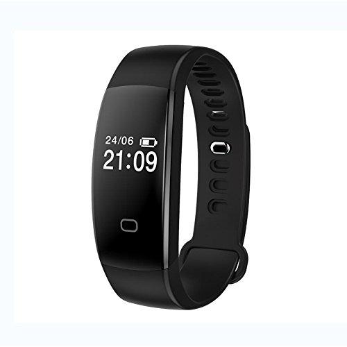 Lirong Smart armband, bewaking van de hartslag, armband met afstandsbediening, self-timer, slaapanalyse, geschikt voor Android platform, Apple iOS platform