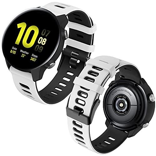 Th-some 20mm Cinturino Compatibile Samsung Galaxy Watch 42mm Watch Active Watch Active 2 40mm 44mm Watch 3 41mm , Ricambio Cinturino in Silicone per Samsung Gear Sport Gear S2 Classic Gear S2 Frontier