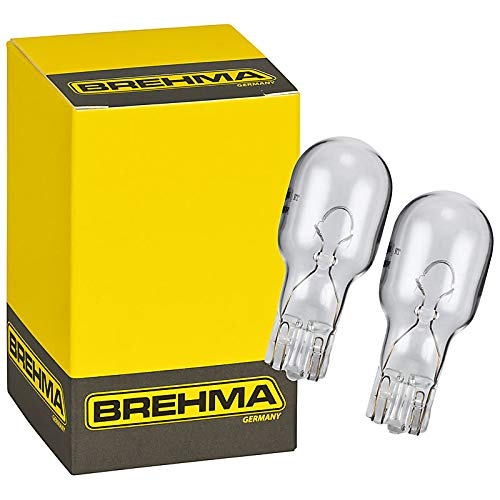 2x BREHMA W10W T13 Glassockellampe 12V 10W W2.1x9.5d