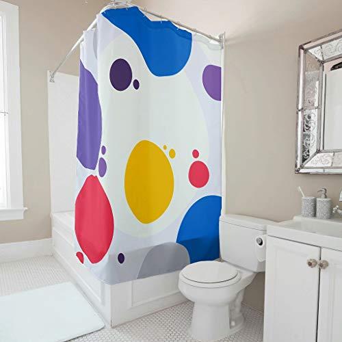 Zhiyue Douchegordijn, 100% polyester, kleur badgordijn, schimmelbestendig, onderhoudsvriendelijk, badaccessoire voor thuis, voor kinderkamer, babykamer, met haak