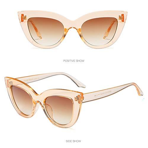 HKJZ Gafas de Sol de Las Mujeres Gafas de Sol polarizadas Vintage - Ojo de Gato Retro con Gafas de Sol for Mujer Gafas de Sol Puntiagudas El diseñador Retro de Las señoras del Estilo Gafas de Sol