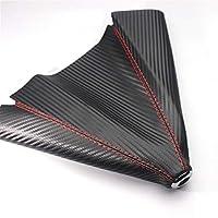 XIUFANG 炭素繊維レザーギアレバー防塵カバーフィットルノーメガネ2 3ダスターローガンキャプチャClio Chevrolet Cruze Aveo Captiva (Color Name : Carbon fiber leather)