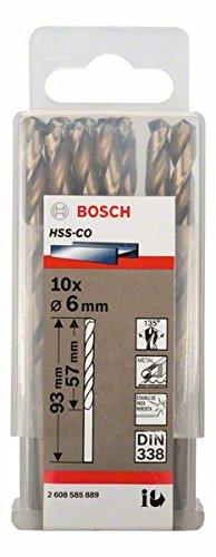 Bosch Professional Metallbohrer HSS-Cobalt (10 Stück, Ø 6 mm)