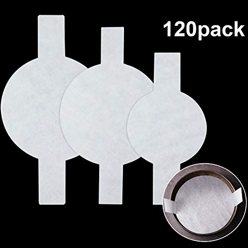120 Pieces Precut Circle Cake Pan Liners Round Parchment Paper Nonstick Parchment Paper with Lift Tabs for Baking White