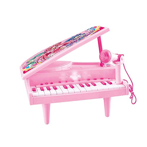 Digitale piano Children's Electronic Piano Girl Toy Early Education Verlichting Music Kind Kleine Piano met microfoon 3 jaar oud (kleur: roze) (Color : Pink)
