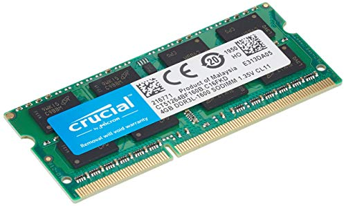 Crucial CT51264BF160B Memoria RAM de 4 GB (DDR3L, 1600 MT/s, PC3L-12800, SODIMM, 204-Pin)