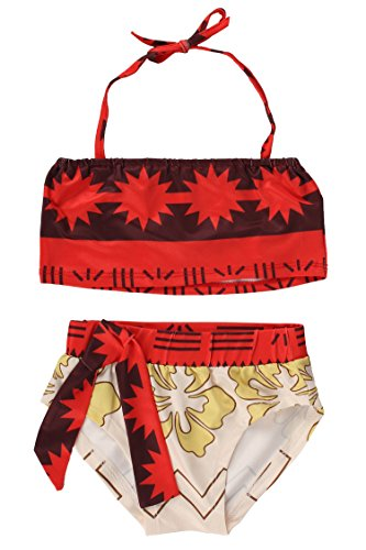 JerrisApparel Baby Girls Moana Digital Print Two Pieces Bikini Set (6-7Y, Multicolored One)