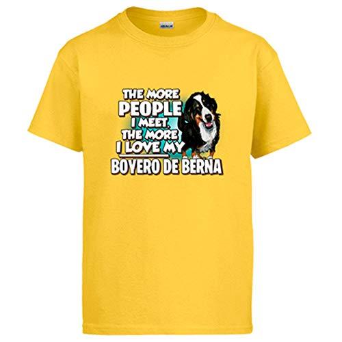 Diver Bebé Camiseta I Love my Boyero de Berna Raza Perro - Amarillo, M