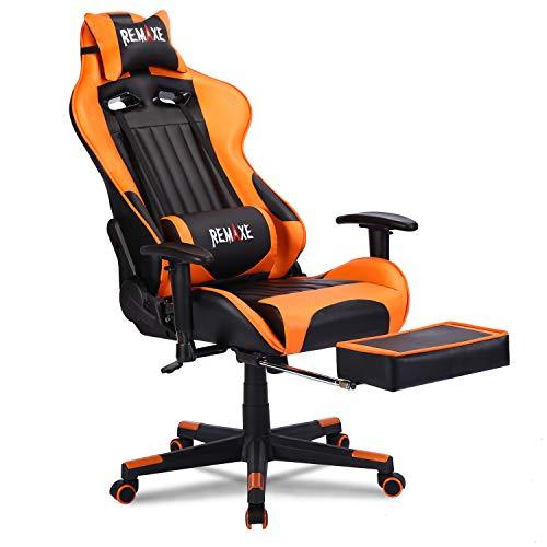 Silla de juego de PC de gran tamaño Ergomonic Racing Chair