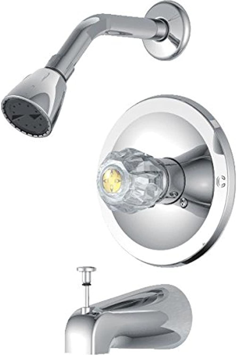 Do it Best Single Acrylic Handle Tub And Shower Faucet CHR TUB SHOWER FAUCET