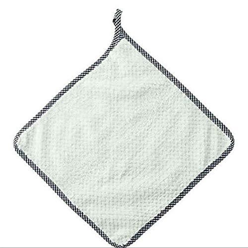 ZSDFW 10 pièces torchon à Vaisselle Tissu Absorbant Microfibre Verre Plat Beatch Serviette à Main Nettoyage à Sec Rapide Cuisine Maison Lavage Suspendus Accessoires 27.5 cm * 25 cm,Vert Haricot