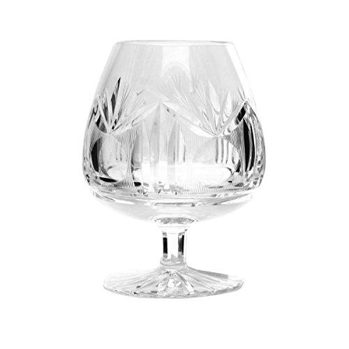 Cristal de Bohemia Lady Copas Coñac Talladas, Cristal, 8x8x13 cm, 6 Unidades