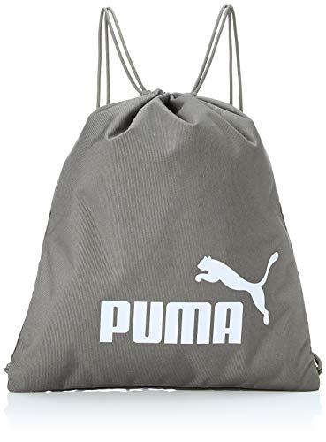 PUMA Phase Gym Sack - Bolsa con cordón unisex, Unisex, Bolsas de gimnasio, 074943, Ultra gris, Talla única