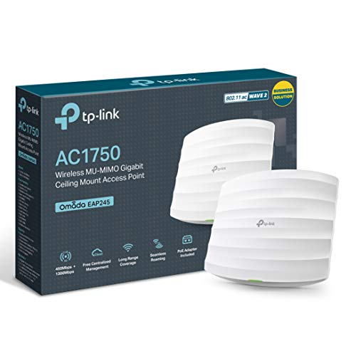 TP-Link AC1750 Wi-Fi Dual Band Gigabit Ceiling Mount Access Point, MU-MIMO, Support...