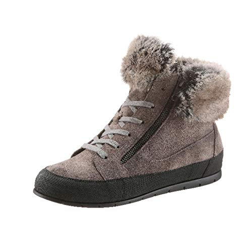 MANAS Damen Schuhe Stiefelette Stiefel Winter Boots Fake Fur grau Schuhgröße EUR 36